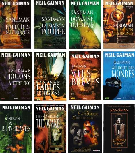 Couvertures du cycle Sandman de Neil Gaiman